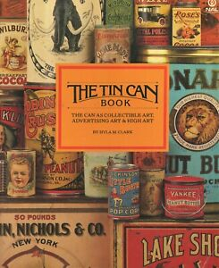 Antique Advertising Tin Can Art – Tobacco Spice Coffee Biscuit Etc / Scarce Book