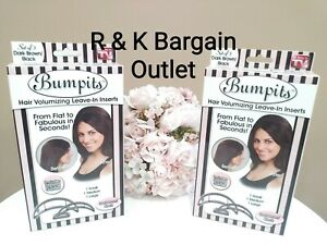 2 ~ Bumpits Hair Volumizing With Leave In Inserts As Seen On TV Dark Brown Black
