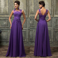 Vintage Style Wedding Bridesmaid Long Party Evening Prom Dresses Gown