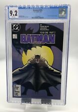 """Batman #405 CGC 9.2 White Pages Part 2 of """"Year One"""" Storyline DC Comics 1987"""