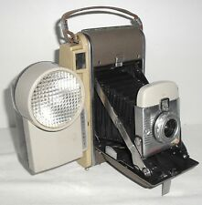 Vtg Polaroid Land Camera 80A with Wink Light 250 Instant Film Pictures