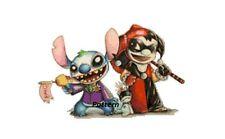 Joker and Harley Quinn / Lilo And Stitch. Cross Stitch Kit.