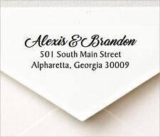 Custom 3 Line Return Address Self Inking Rubber Stamp Traxx 9013 Design Style-4