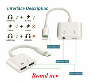 For iPhone 7/8 Plus XS AUX Adapter and Charge Cable Headphone Adapter+Charger