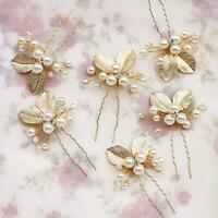4PC Wedding Bridal Flower Rhinestone Crystal Hair Pins Clips hot Bridesmaid C9M2