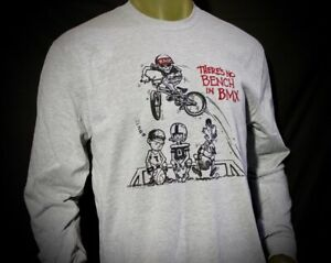 "Nowear BMX Rad Series radical Rick ""No Bench"" Long Sleeve Tee Old New School USA"