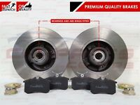 RENAULT CLIO MODUS TWINGO REAR BRAKE DISCS PADS WHEEL BEARINGS ABS RINGS FITTED