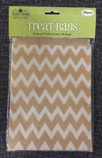 Treat Bags 25 Per Pkg. Zig Zag Design On Natural Kraft Paper. Nicole