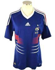 Adidas Soccer Jersey Mens M FFF Blue Clima Cool Football Shirt Mens French Team