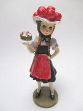 Schwarzwald Trachten Mädchen Poly Figur 13 cm Black Forest Souvenir
