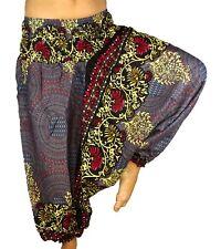 Sarouel gris Femme Pantalon Ethnique Aladin Harem Pant Aladdin yoga