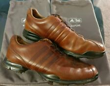 Adidas Adipure Z Golf Shoes, UK 8, Leather   changeable spikes + bag storage