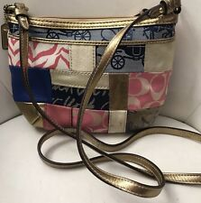 Authentic COACH Spring Patchwork Glam Messenger Bag