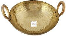 Indian Pure Brass Kadhai Hammered Kadai Cooking Karahi Wok Capacity 5 Litres