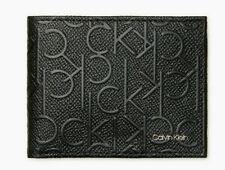 Calvin Klein Textured Monogram Logo Slimfold Wallet