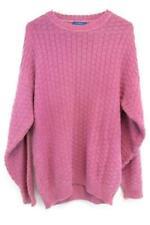 Vintage Men's Purple Crewneck Checkered Knit Sweater Sz M ~ Lobo By Pendleton