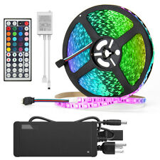 SUPERNIGHT® 10M Set 600Leds RGB 5050 LED Strip Light IP33+24V Power+44Key Remote
