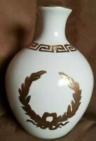 Vintage Toyo China Gold and Off White Cream Vase