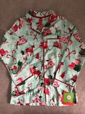NWT Target Snowflakes Adult Christmas Pajama Top Size XS Green