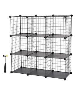 SONGMICS  9 Metal Wire Storage Cubes Shelving Grid Closet Organization ulp102h