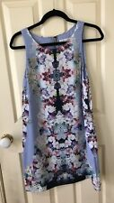 NC *FOREVER NEW*   Beautiful  Floral Shift Dress Size~ 12 Sleeveless Lined  Poly