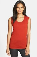 Eileen Fisher Wool Jewel Neck Muscle Tee Size XL (Retail $178)