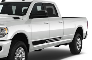 Decal for Dodge Ram Crew Cab 3500 Side Lines Vinyl Graphics Design Sticker