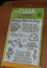CLEAR ACRYLIC HERO ARTS STAMPS HAPPY MOM'S DAY ~ Grandma's are...  wks CTMH blk