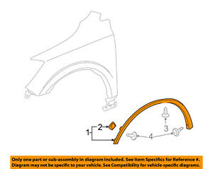 Buick GM OEM Enclave Front Fender-Wheel Well Flare Arch Molding Right 22860167