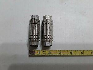 "Pair Of Used Vintage BMX Freestyle Bike Aluminum Pegs 3/8"" Axles, 24T 26T"