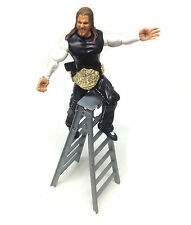 "WWE TNA WWF Wrestling JEFF HARDY 6"" poseable toy figure with Ladder & belt"