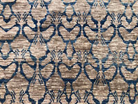 8x10 MODERN HAND-MADE WOOL RUG BROWN BLUE HAND-KNOTTED hand-woven turkish carpet