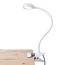 Gooseneck Lamp Clamp Clip Desk Table Bright Flexible Adjustable Work Light 20 In