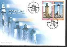 2010  ROMANIA  -  SG. 7018 / 7022  -  LIGHTHOUSES  ON 2 FIRST DAY COVERS - USED