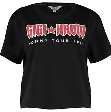 TOMMY Hilfiger X GIGI HADID ROCK TOUR CROPPED TEE RRP £50 Size XS T-shirt Top