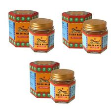 GENUINE TIGER BALM  MULTIPACK  OF THREE RED 30g  JARS -  FAST PRIORITY AIR MAIL