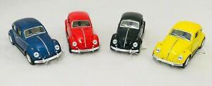 Kinsmart 1967 Volkswagen Classical Beetle Diecast Model Toy Car 1:32 Colorful
