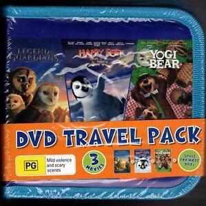 DVD TRAVEL PACK Legend Of Guardians + Happy Feet Two + Yogi Bear NEW & SEALED