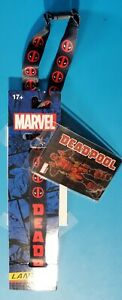 Marvel Deadpool Lanyard with PVC Dangle New