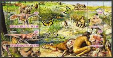 Chad 2010 Prehistoric People Dinosaurs ( II ) Butterflies Sh of 4 MNH** Privat !