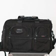 Tumi Alpha Black Expandable Laptop Document Shoulder Bag