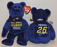 2007 RETIRED TY BEANIE BABIES NASCAR COLLECTION - CASEY MEARS #25 NATIONAL GUARD
