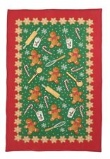 "Ulster Weavers, ""Gingerbread Men"", Pure linen printed Christmas tea towel."