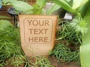 Wooden personalised garden sign rustic plaque Stake Veg Herb Gardening Gift