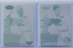 SET LOT OF 2 1/1 ROCKY COLAVITO 1994 TW PRINTING PLATES #146 INDIANS HOF 1 OF 1
