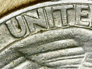 1974 D Washington Quarter 25c Cent US Coin Machine Doubled Reverse Error