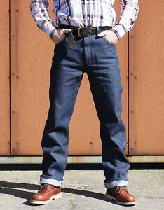 Rustler by Wrangler RawDenim indigo /Rockabilly/Biker Jeans/HotRod36/34