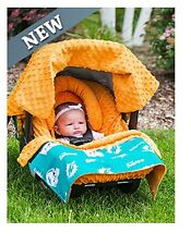 NFL Licensed 5pc Whole Caboodle ~ MIAMI DOLPHINS ~ Infant Car Seat Canopy
