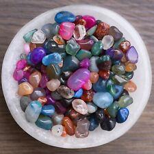 Mixed Mini Agate Crystal Chips, Gemstone Tumbled Stones, Bulk Lot - 100g