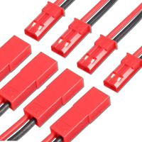 2 Paar Premium JST BEC LED 2Pin Stecker Buchse 30cm Kabel Lipo Akku 20AWG RC